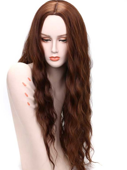 Long Wave Middle Parting Synthetic Capless Women Wigs 30 Inches
