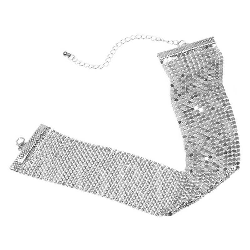 Retro Alloy Sequins Design Choker Necklace