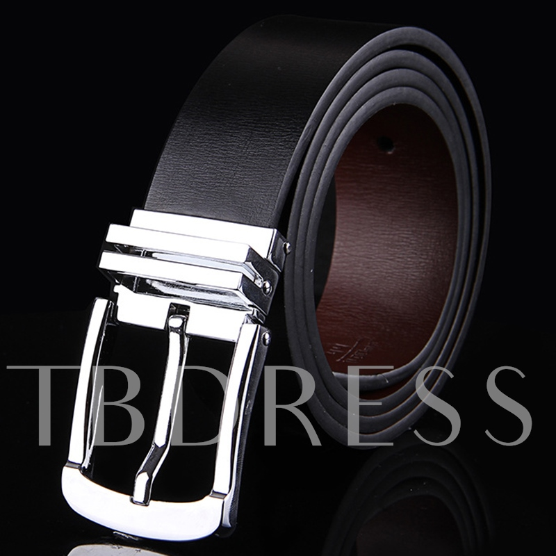 Alloy Pin Buckle Artificial Leather Men's Casual Belt