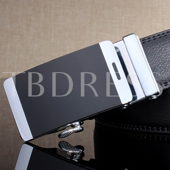 Alloy Automatic Buckle Regular Men's Belt