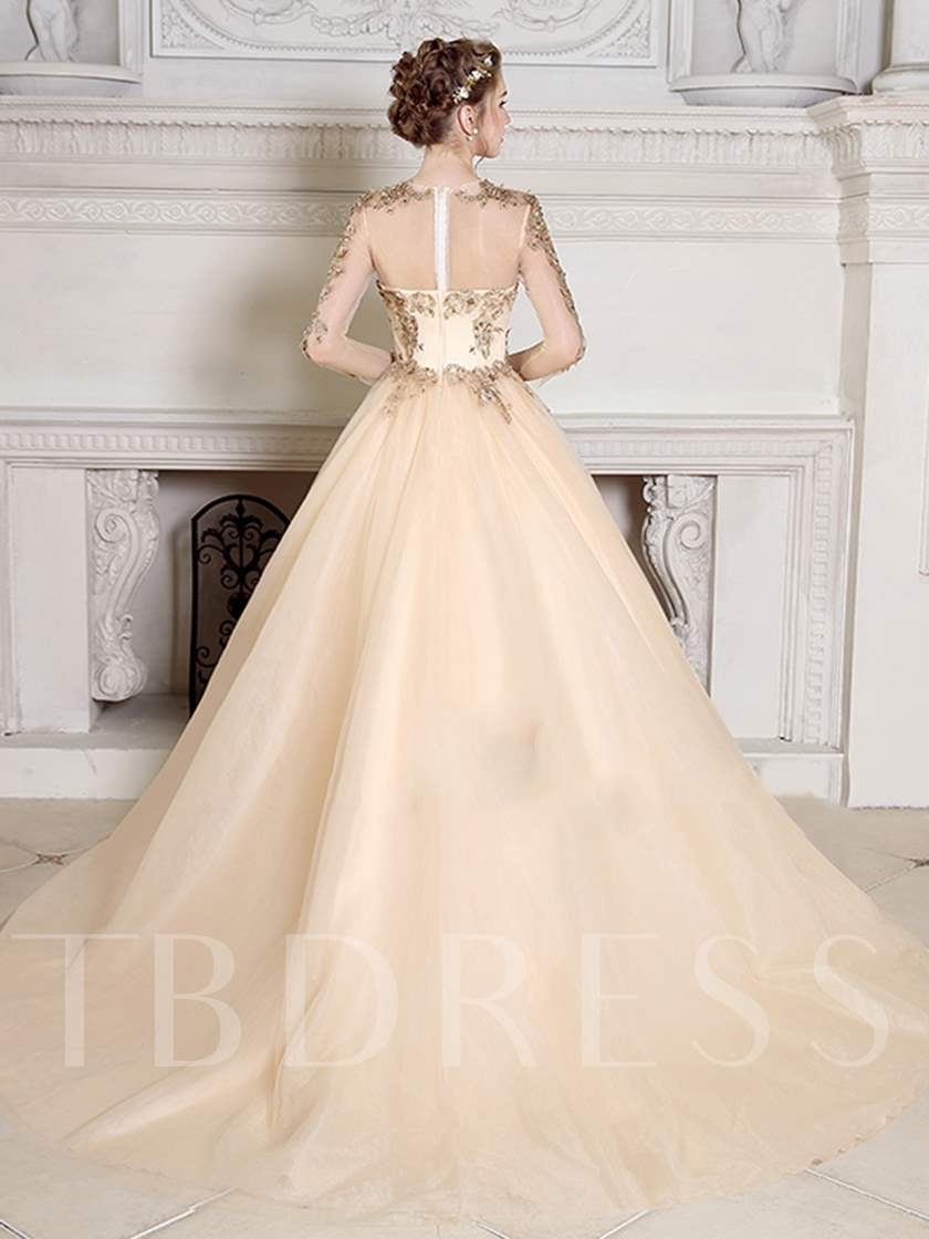42bf77eff7fa Jewel Pearls Ball Gown Appliques Beading Quinceanera Dress - Tbdress.com
