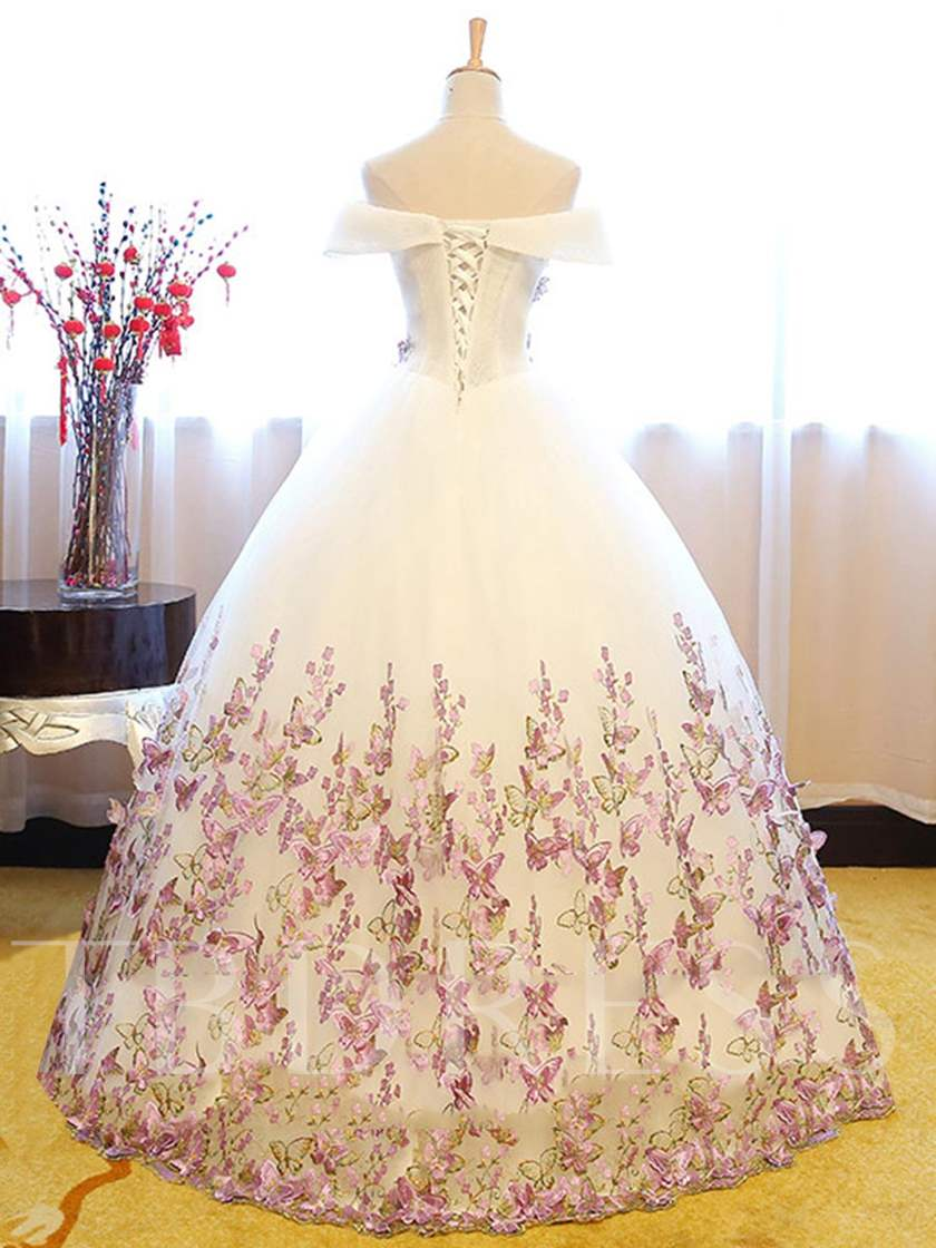 Off-the-Shoulder Appliques Quinceanera Dress