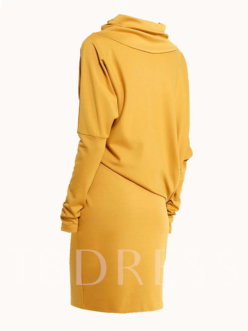 Turtleneck Long Sleeve Women's Bodycon Dress
