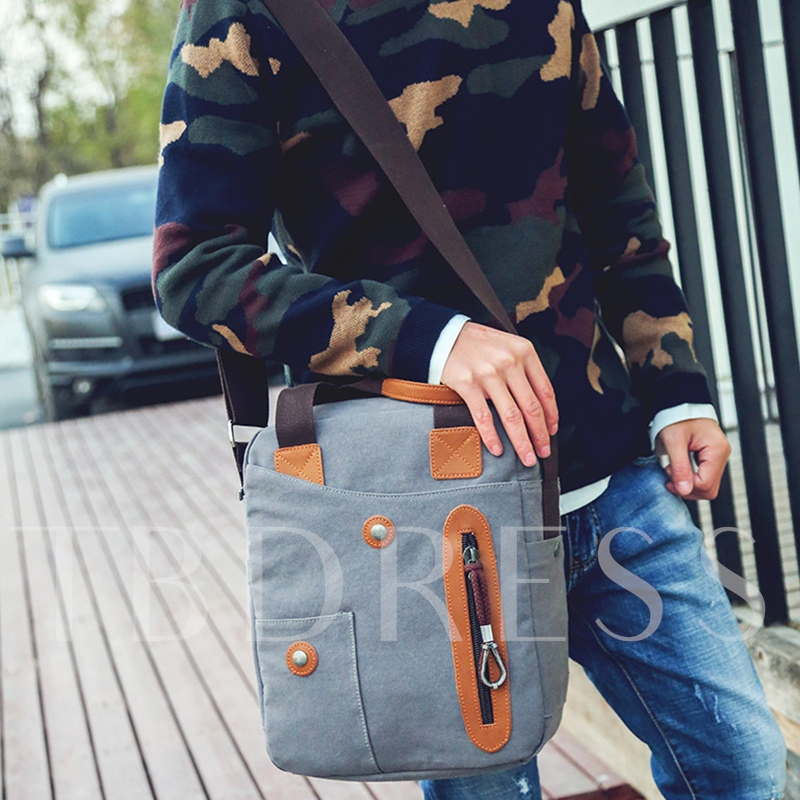 Retro Canvas Men's Single Shoulder Strap Bag