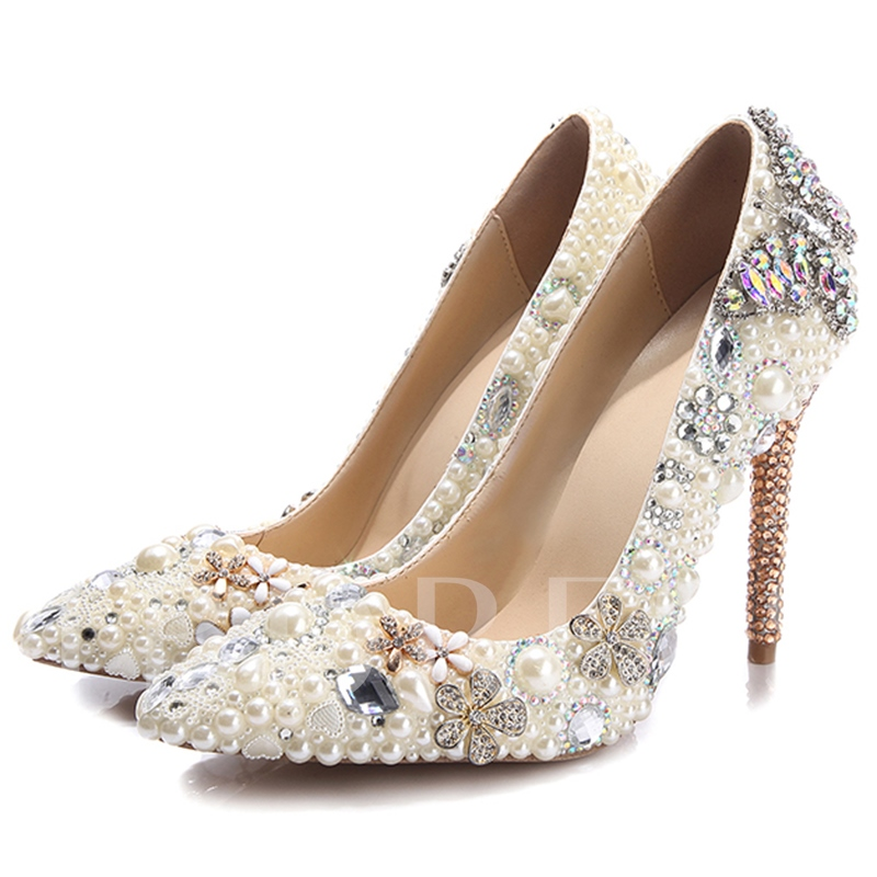 Rhinestone Ultra-High Heel Women's Wedding Shoes