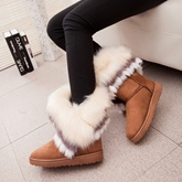 Round Toe Slip-On Ankle Women's Snow Boots