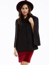 Bowknot Solid Color Women's Cape