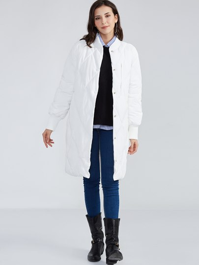 Stand Collar Single-Breasted Long Sleeve Women's Overcoat