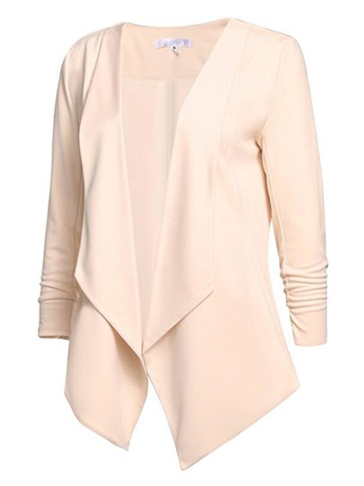 Plain Lapel Long Sleeve Women's Blazer