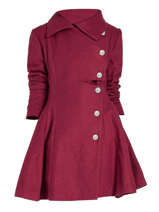 Plain Single-Breasted Lapel Long Sleeve Women's Trench Coat