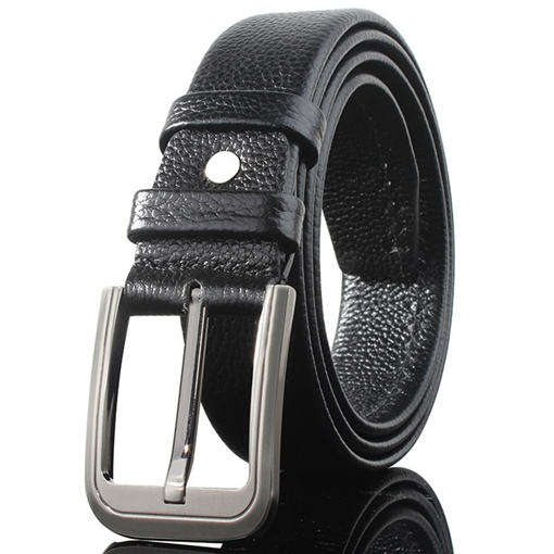 Alloy Pin Buckle Design Soft Artificial Leather Men's Belt