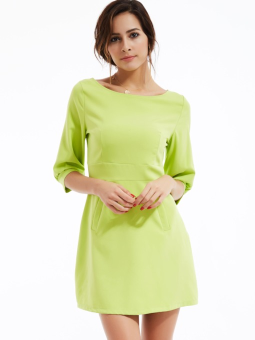 Off Shoulder Half Sleeves Women's Sheath Dress