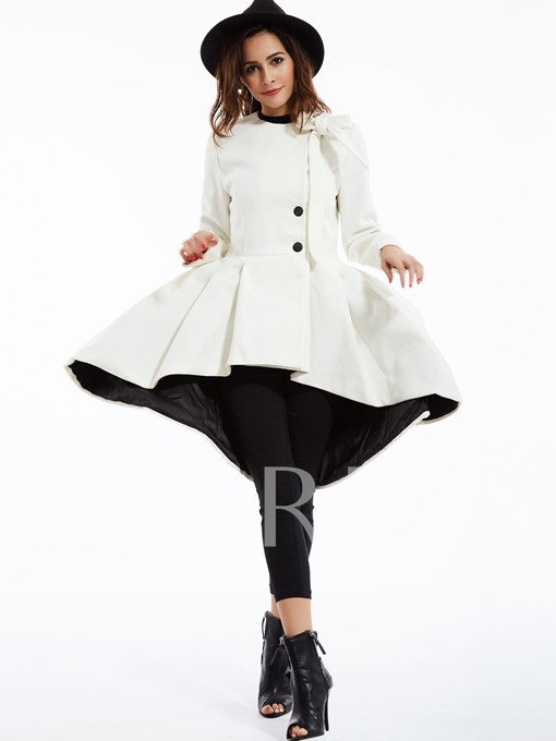 Plain Asym Knot Women's Overcoat