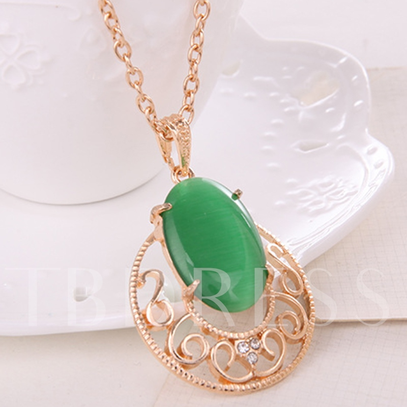 Artificial Gems Decorated Alloy Plated Jewelry Set