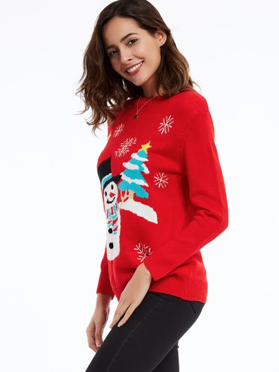 Round Neck Pullover Christmas Women's Sweater
