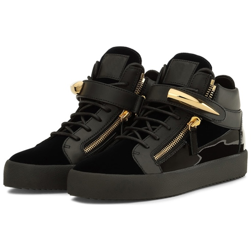Round Toe High-Cut Upper Patchwork Women's Sneakers