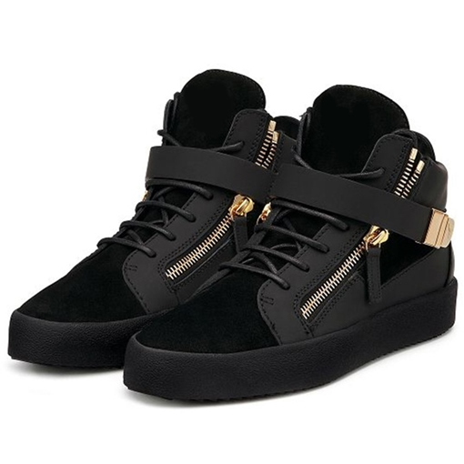 Round Toe High-Cut Upper Lace-Up Women's Sneakers