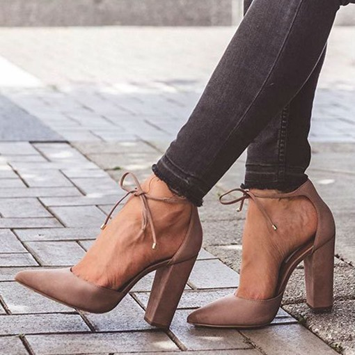 Chic Chunky Heel Pumps