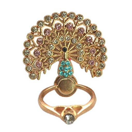 Fashion Cheap Phone Ring Holder Peacock Pattern Grip Mount for Women