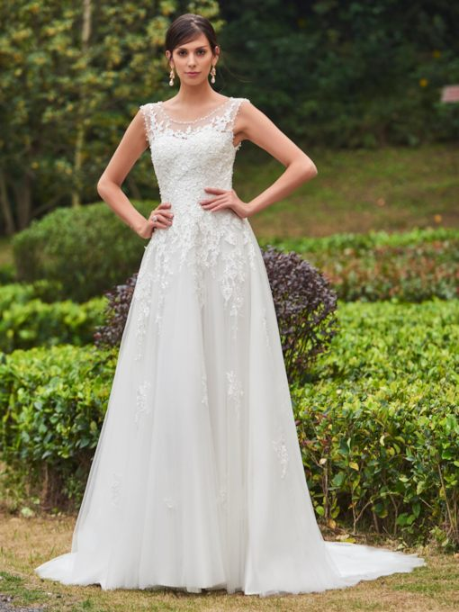 31652b4def6d2 A Line Wedding Dress No Train - Tbdress.com