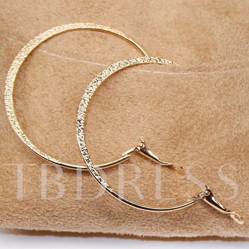 Shining Golden E-Plating Women's Hoop Earrings