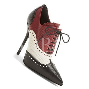 Contrast Color Stiletto Chic Booties