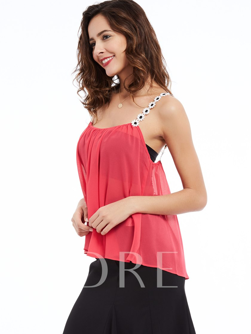 Spaghetti Strap See-Through Women's Tank Top