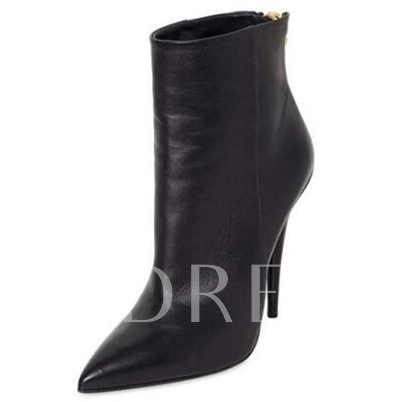 new arrival c0ca5 62064 Ultra-High Heel Pointed Toe Back Zipper Women's Boots