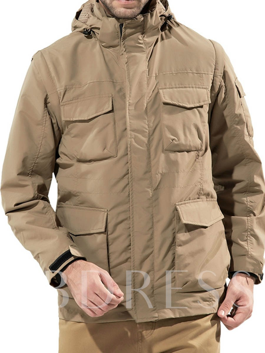 Cycling Polyester Antistatic Male Solid Two-Piece Suit Tops
