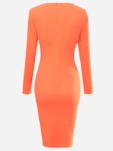 Bodycon Dress col rond couleur bloc féminin