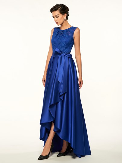 Lace Top High Low Mother Of The Bride Dress