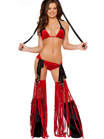 Sexy Halter Tessel Lace-Up Costume