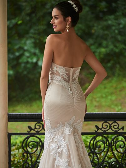 Mermaid Sweetheart Appliques Zipper-Up Wedding Dress
