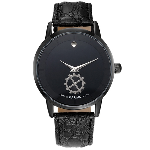 Black Glass Surface Quartz Movement Men's Watch