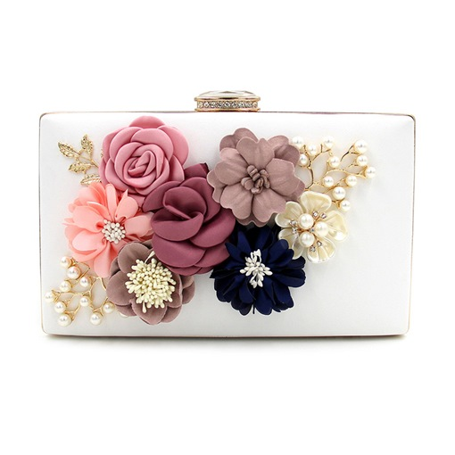 Lastest Diamante Floral Evening Clutch