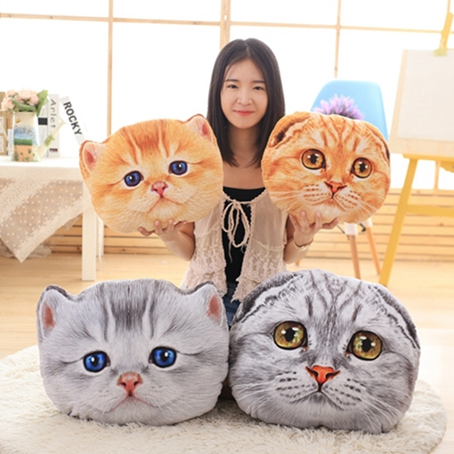 Cute Cat Plush Toy Pillow Soft and Comfortable 3D Throw Pillow