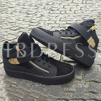 Patchwork Round Toe High-Cut Upper Men's Sneakers
