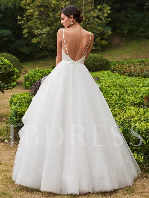 Ball Gown Wedding Dress Straps Beaded Appliques