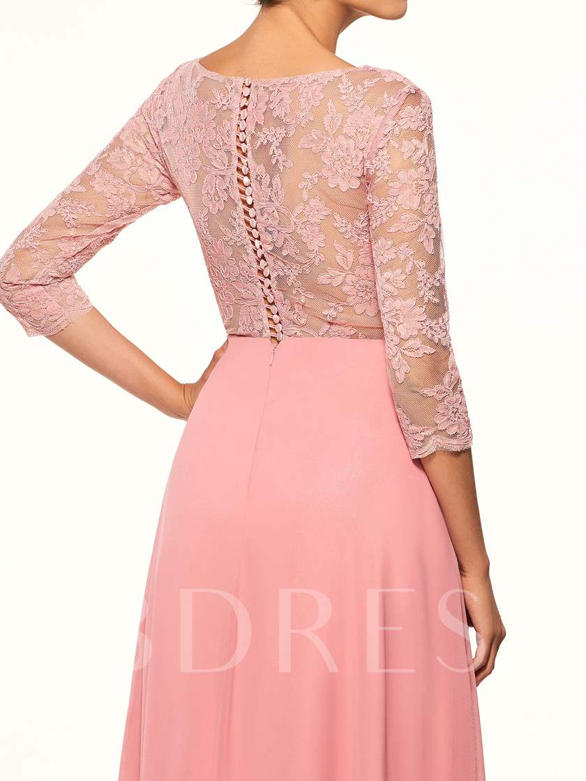 Sleeves Beaded Lace Mother of the Bride Dress