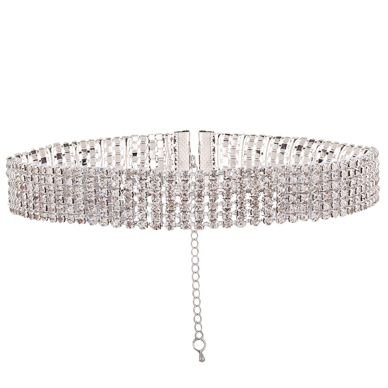 Vogue Full Rhinestone Inlaid Alloy Choker Necklace