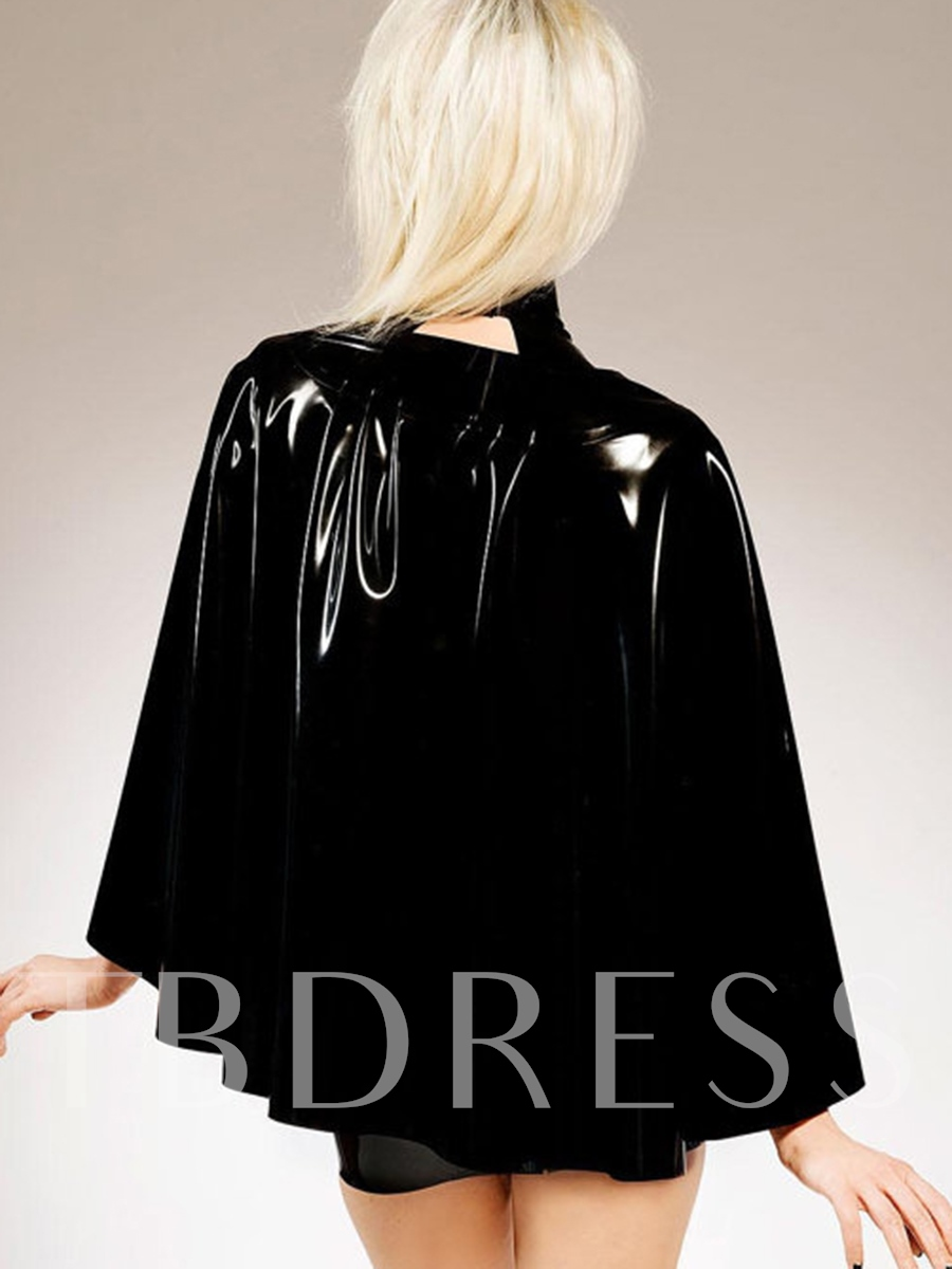 Sexy Zipper Patchwork Batwing Sleeve Costume