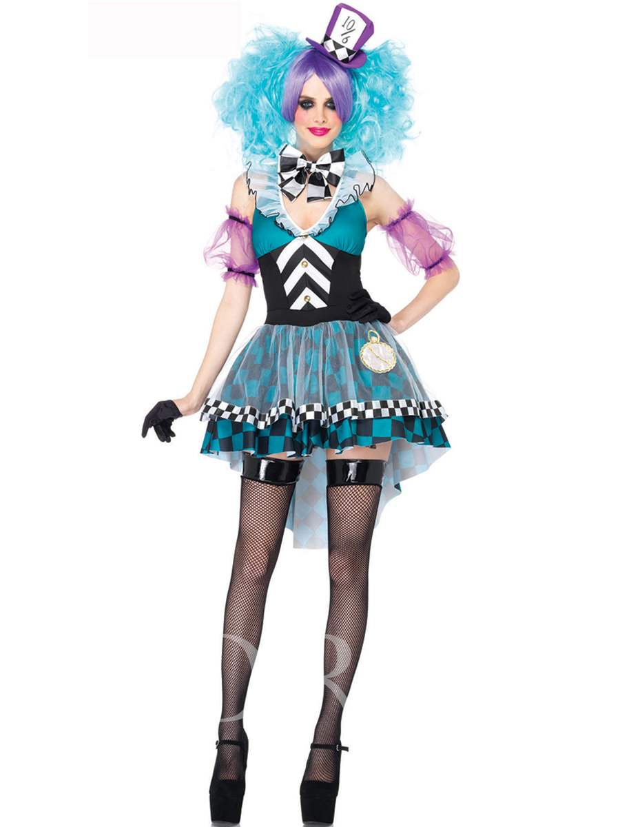 Fancy V-Neck Color Block Patchwork Swallowtail Costume