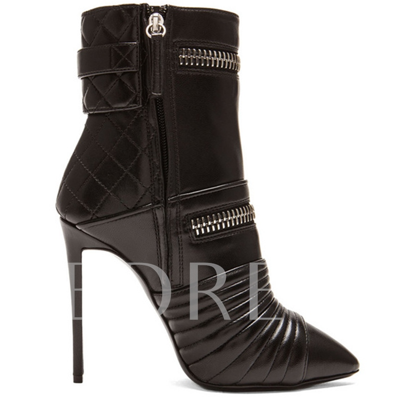 Pointed Toe Ultra-High Heel Boots