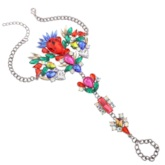 Colorful Artificial Gems Inlaid Alloy Anklet ( One Piece )
