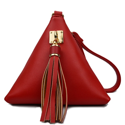 Pyramid Shape Tassel Women Tote Bag