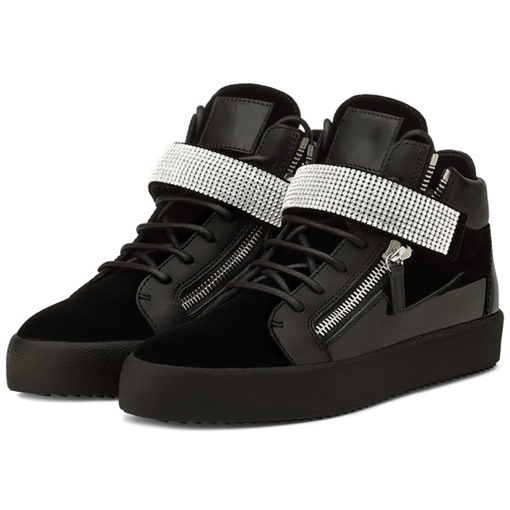 Side Zipper Round Toe Ankle Men's Sneakers