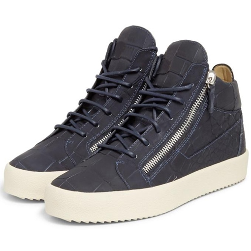 Side Zipper Ankle Men's Sneakers