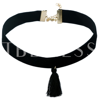 Gothic 8 Pieces Women Black Velvet Choker Necklace