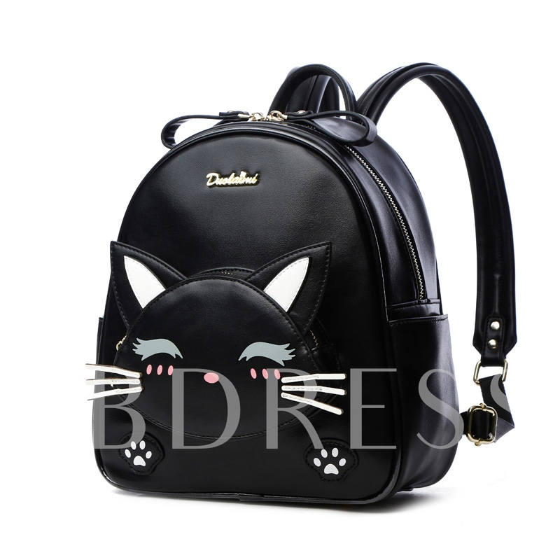 eb31be216cff Simple Cute Cat Embroidery Backpack - Tbdress.com