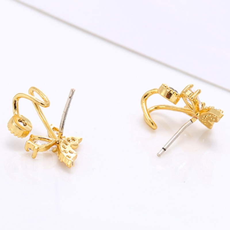 Sweet Rhinestone Butterfly Women's Earrings